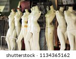 group of used mannequins with... | Shutterstock . vector #1134365162