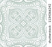 hand drawn seamless pattern ... | Shutterstock .eps vector #1134366242