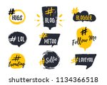 set of bubbl banners with... | Shutterstock .eps vector #1134366518