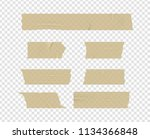 vector adhesive tape. isolated... | Shutterstock .eps vector #1134366848