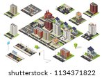 isometric big set of city... | Shutterstock .eps vector #1134371822
