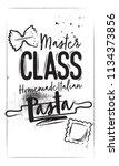 master class homemade paste.... | Shutterstock .eps vector #1134373856