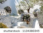cadaques village and the roof... | Shutterstock . vector #1134380345