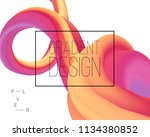 dynamic shapes composition. 3d... | Shutterstock .eps vector #1134380852