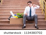 young businessman on the street ... | Shutterstock . vector #1134383702