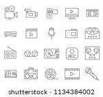 set of recorder related vector... | Shutterstock .eps vector #1134384002
