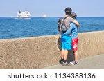 travemunde  germany   june 11 ... | Shutterstock . vector #1134388136