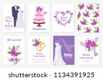 marriage set. collection of...   Shutterstock . vector #1134391925