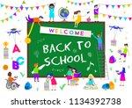 back to school vector... | Shutterstock .eps vector #1134392738
