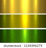 metal textures gold and green... | Shutterstock .eps vector #1134396275