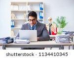 businessman working with... | Shutterstock . vector #1134410345