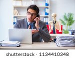 businessman working with... | Shutterstock . vector #1134410348