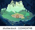 Fantasy Landscape With Gnome...