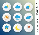 climate icons flat style set... | Shutterstock .eps vector #1134425615