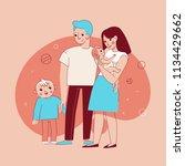 vector illustration in trendy... | Shutterstock .eps vector #1134429662