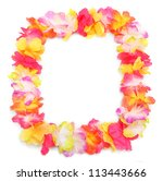 frame from flowers necklace.... | Shutterstock . vector #113443666