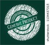 genuine product chalkboard... | Shutterstock .eps vector #1134437315