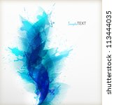 abstract artistic background ... | Shutterstock .eps vector #113444035