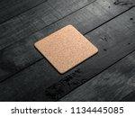 cork pad  beer coaster mockup... | Shutterstock . vector #1134445085
