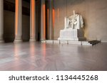 the lincoln memorial indoors at ... | Shutterstock . vector #1134445268