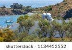 costa brava  catalonia  14 june ... | Shutterstock . vector #1134452552
