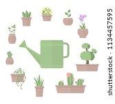 vector illustration of set of... | Shutterstock .eps vector #1134457595