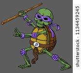 Cartoon Skull Of Ninja Turtle...