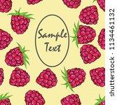 seamless pattern from raspberry ... | Shutterstock .eps vector #1134461132