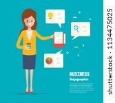 businesswoman character to... | Shutterstock .eps vector #1134475025