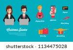 customer service online... | Shutterstock .eps vector #1134475028