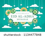 eid al adha celebration... | Shutterstock .eps vector #1134477848