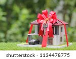 real estate and gift new home... | Shutterstock . vector #1134478775