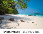 beautiful tropical island white ... | Shutterstock . vector #1134479408