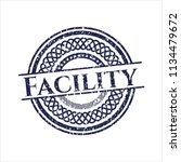 blue facility rubber grunge seal   Shutterstock .eps vector #1134479672