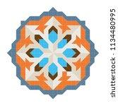decorative art nouveau tile... | Shutterstock .eps vector #1134480995