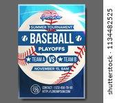 baseball poster vector. design... | Shutterstock .eps vector #1134482525