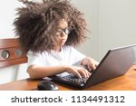 girls are do your homework by... | Shutterstock . vector #1134491312