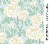 floral seamless pattern of... | Shutterstock .eps vector #1134493382