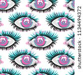 eyes. multicolored pattern.... | Shutterstock .eps vector #1134494372