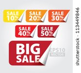 big sale tags with sale 10   50 ... | Shutterstock .eps vector #113449846