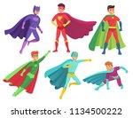 superhero man characters.... | Shutterstock .eps vector #1134500222