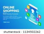 online shopping concept.... | Shutterstock .eps vector #1134502262