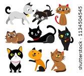 cat vector collection design | Shutterstock .eps vector #1134504545
