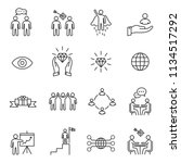 business people icons line... | Shutterstock .eps vector #1134517292