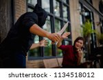 crime concepts robbery concepts ...   Shutterstock . vector #1134518012