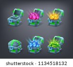 set of cartoon colorful... | Shutterstock .eps vector #1134518132