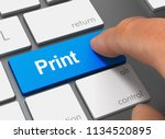 Print Pushing Keyboard With...