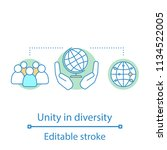 unity in diversity concept icon.... | Shutterstock .eps vector #1134522005