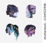 set of beauty salon female... | Shutterstock .eps vector #1134522908