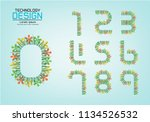 number set of numbers logo or... | Shutterstock .eps vector #1134526532
